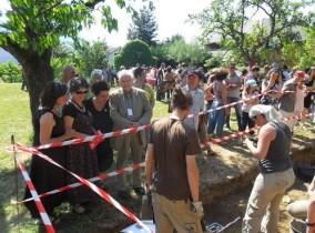 Visite des fouilles en direct
