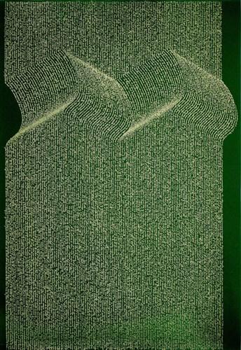 Calligramme : Chant d'ombres. Léopold Sédar Senghor. Sérigraphie. 900 euros