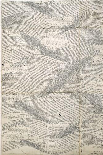 Calligramme : Jean Burgos. Voyages en calligramme. Sérigraphie. 900 euros