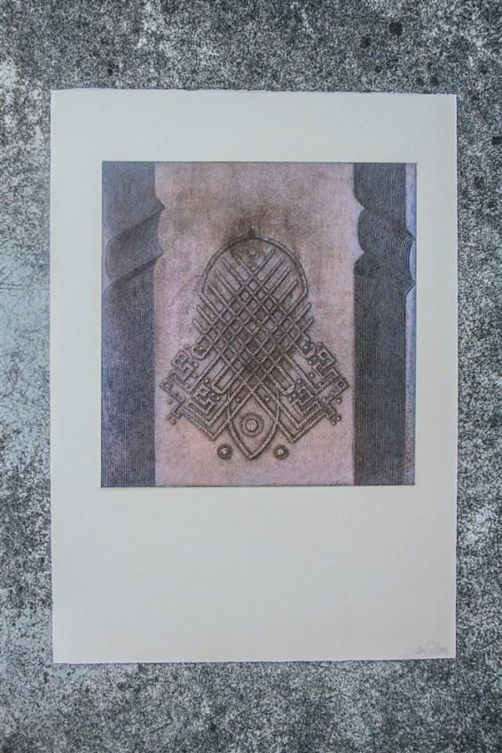 Gravure. N° 6. 350 euros. Format: 53 x 37 cm. En l'état.