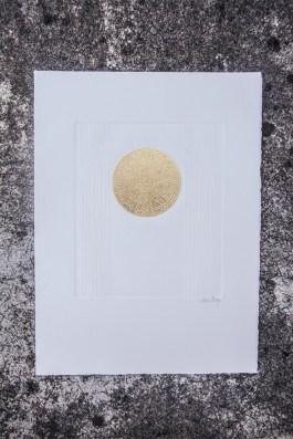 Gaufrage (extrait). N° 5. 200 euros. Format: 38 x 28 cm. En l'état