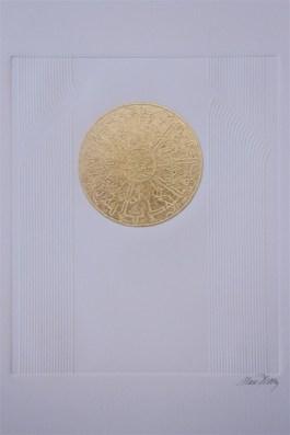 Gaufrage. N° 5. 200 euros. Format: 38 x 28 cm. En l'état