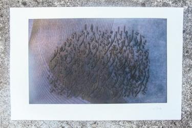 Gravure. N° 2. 250 euros. En l'état. Format: 33 x 46 cm
