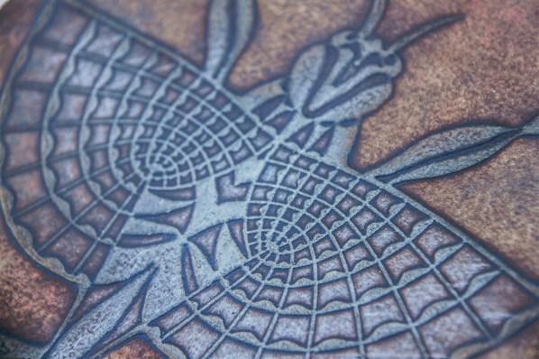 Gravure (extrait). N° 2. 250 euros. En l'état. 33 x 46 cm