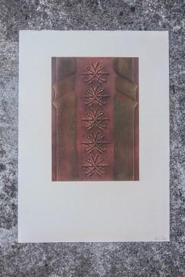 Gravure. N° 11. 300 euros. Format: 53 x 37 cm. En l'état. Retenu