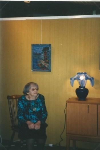 Berthe en décembre 1997. Exposition à la maison de retraite de Saint-Laurent-du-Pont