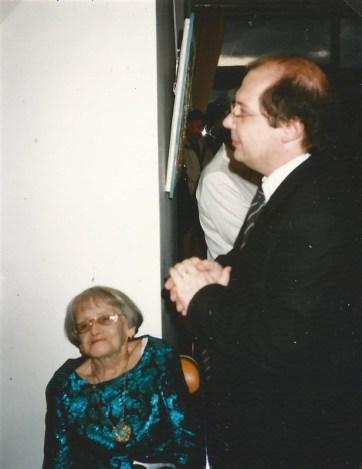 Berthe avec Michel Hannoun, maire de Voreppe. 1993