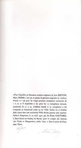 Jean Breton L'équilibre en flammes (1)
