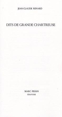 Jean-Claude renard Dits de grande Chartreuse (1)
