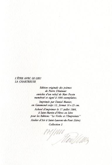 Pierre Dhainault L'etre avec le lieu la Chartreuse (1)
