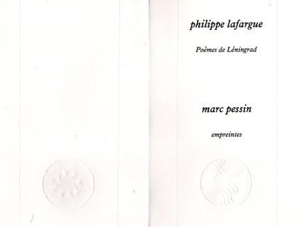 PHILIPPE LAFARGUE POEMES DE LENINGRAD (1)