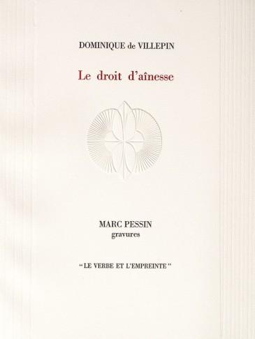 LE DROIT D'AÎNESSE - DOMINIQUE DE VILLEPIN