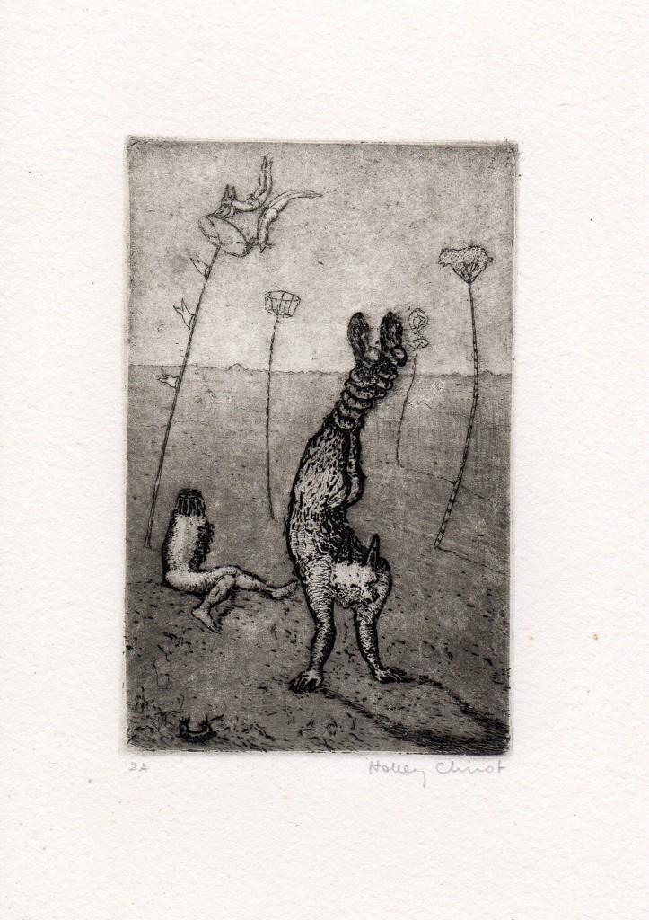 Gravures – Holley Coulter Chirot - Epreuve d'artiste - Format 18 cm x 13.5 cm - 150 euros