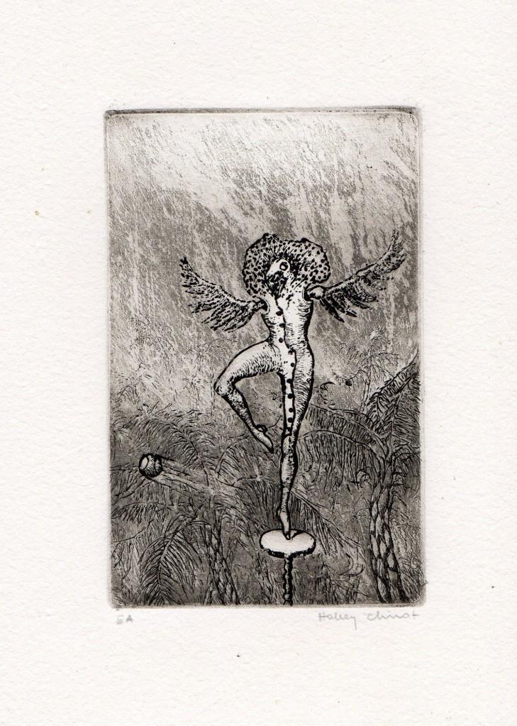 Gravure – Holley Coulter Chirot - Epreuve d'artiste - Format 18 cm x 13.5 cm - 150 euros